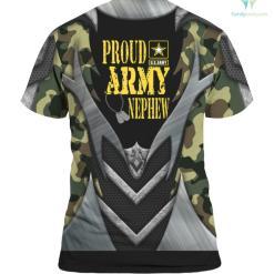 Proud Army Nephew Shirt Military Pride %tag familyloves.com