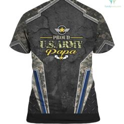 Proud U.S Army Papa America Military Pride hoodie shirt %tag familyloves.com