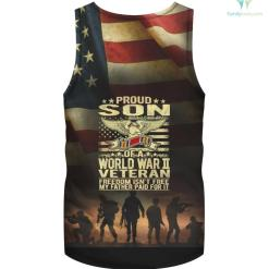 Freedom Isn't Free - Proud Son Of A WW2 Veteran hoodie shirt %tag familyloves.com