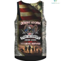 Desert Storm Veteran Tee Shirt Desert Storm Gulf War Gift - %tag familyloves.com