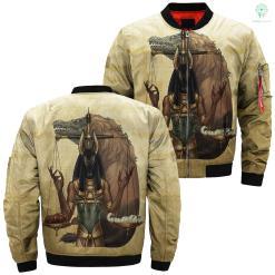 Anubis pena e coração 3d jacket Over Print Jacket %tag familyloves.com
