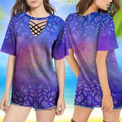Yoga Shirt Sayings Mandala Geometry Sacred Fractal Art Yoga Mantra Good Vibe Yoga Shirt Open Back %tag familyloves.com
