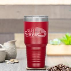 Reel Cool Dad Fisherman Daddy Father's Day Gifts Fishing Tumbler %tag familyloves.com