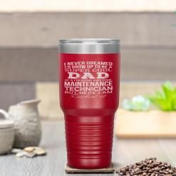 Super Cool Maintenance Technician's Dad Father's Day Tumbler %tag familyloves.com