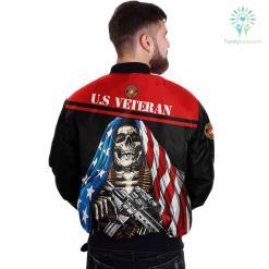 U.S MARINE CORPS CLOTHING- 3D PRINTED SKULL WITH FLAG %tag familyloves.com