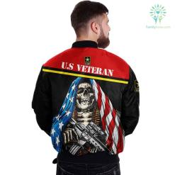 U.S ARMY CLOTHING- 3D PRINTED SKULL WITH FLAG %tag familyloves.com