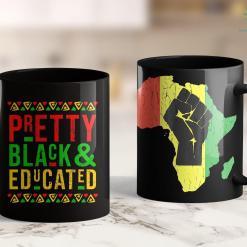 All Lives Matter Meme Pretty Black And Educated Black History Month Outfit Cute 11Oz 15Oz Black Mug %tag familyloves.com