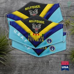 American Air Force Air Force Vietnam Veteran U.S. Veterans Old Men Gift Face Mask Gift %tag familyloves.com