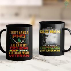 American Pick Up Vietnam Veteran - Vietnam Veteran No Phd But Dd-214 11Oz 15Oz Black Coffee Mug %tag familyloves.com