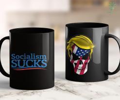 Anti Trump Mug Socialism Sucks Red Wave Pro Trump Political Campaign 11oz Coffee Mug %tag familyloves.com