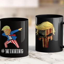 Anti Trump Tshirt Trump Dabbing Winning 11oz Coffee Mug %tag familyloves.com