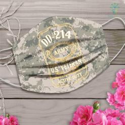 Army Car Army Veteran Dd 214 Face Mask Gift %tag familyloves.com
