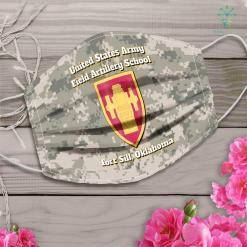 Army Tag Army Field Artilleryschool Fortsill Oklahoma Face Mask Gift %tag familyloves.com