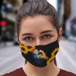 Best Gifts Nurses Rosie The Riveter Woman Nurse Face Mask Gift %tag familyloves.com
