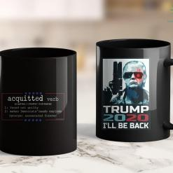 Bikers For Trump Shirt Funny - Acquitted Defined - Pro Trump 2020 11oz Coffee Mug %tag familyloves.com