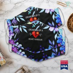 Birthday Gifts For Grandma From Granddaughter Grandma Of A Heart Warrior Chd Awareness Face Mask Gift %tag familyloves.com