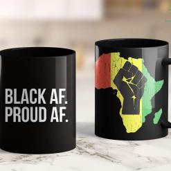 Black Girl Rides White Guy Cool Black History Month With White Text Black Af 11Oz 15Oz Black Mug %tag familyloves.com
