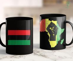 Black Lives Matter Logo Pan African Unia Flag Black Liberation Flag Afro-American 11Oz 15Oz Black Mug %tag familyloves.com