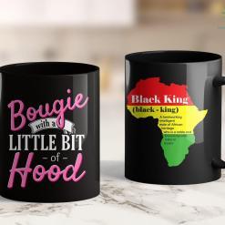 Black Lives Matter Nyc Black Girl Magic Gift Bougie With A Little Bit Of Hood 11Oz 15Oz Black Mug %tag familyloves.com