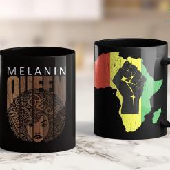 Black Lives Matter Seattle Natural Afro Melanin Queen Tee Strong Black African American 11Oz 15Oz Black Mug %tag familyloves.com