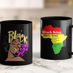 Black Lives Matters Demands Black Girl Magic Gift Pink Afro Natural Hair Diva 11Oz 15Oz Black Mug %tag familyloves.com