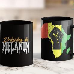 Black Opal Foundation Dripping In Melanin Queen Black Pride African American Gift 11Oz 15Oz Black Mug %tag familyloves.com
