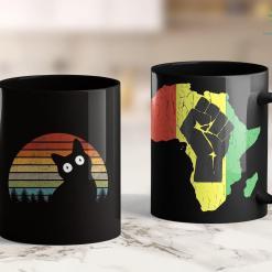 Blacklivesmatter Funny Black Cat Gift For Cat Lovers, Retro Cat 11Oz 15Oz Black Mug %tag familyloves.com