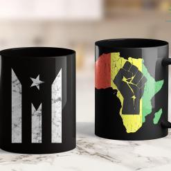 Blm Movement Puerto Rico Black Flag 11Oz 15Oz Black Mug %tag familyloves.com