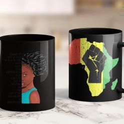 Blm Protest I Am Black Girl Magic Anthem Shirt Afro Puff Kids Queen Rise 11Oz 15Oz Black Mug %tag familyloves.com