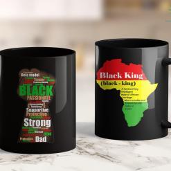 Blm Technologies Black Dad Wordcloud Art Father'S Day African American 11Oz 15Oz Black Mug %tag familyloves.com