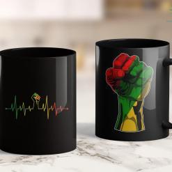 Brown Lives Matter Black Power Fist Heartbeat 11Oz 15Oz Black Mug %tag familyloves.com