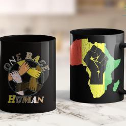 Candlelight Sterling Il One Race Human Bi-Racial Multi-Racial Black White 11Oz 15Oz Black Mug %tag familyloves.com