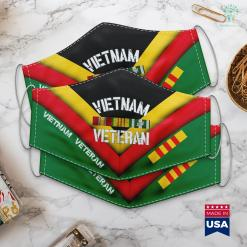 Charity Clothing Pickup Vietnam Veteran Pride Service Ribbon Face Mask Gift %tag familyloves.com