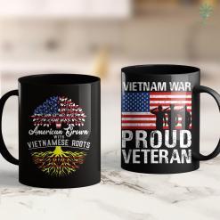 Charity Clothes Donation American Grown With Vietnam Roots Flag 11Oz 15Oz Black Coffee Mug %tag familyloves.com