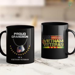 Clothing Donations Pick Up Proud Grandson Of A Vietnam Veteran Cool Army Soldier Gift 11Oz 15Oz Black Coffee Mug %tag familyloves.com