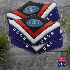 Coast Guard Motto Coast Guard First Class Petty Officer Semper Paratus Oval Face Mask Gift %tag familyloves.com
