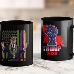 Cool Trump Shirts Keep Mardi Gras Great Funny Trump Mardi Gras 2020 Flag 11oz Coffee Mug %tag familyloves.com