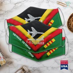 Disabled Veterans Of America F8 Crusader Jet Fighter Plane Vietnam War Planes Gift Face Mask Gift %tag familyloves.com