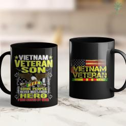 Disabled Veterans Donation Proud Vietnam Veteran Son - Military Veterans Child Gift 11Oz 15Oz Black Coffee Mug %tag familyloves.com