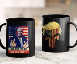 Donald Trump Shirts Vintage One For Pelosi One For Schiff Funny Trump 2020 11oz Coffee Mug %tag familyloves.com