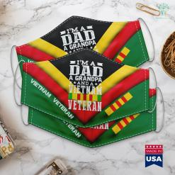 Donate Clothes To Veterans Mens Im A Dad Grandpa And Vietnam Veteran Fathers Day Face Mask Gift %tag familyloves.com