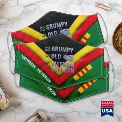 Donate To Va Veterans Grumpy Old Vietnam Veteran Tee Men Women Gift Face Mask Gift %tag familyloves.com