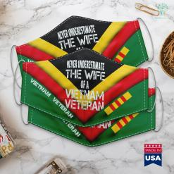 Donation Of Clothes Never Underestimate The Wife Of A Vietnam Veteran Gift Face Mask Gift %tag familyloves.com