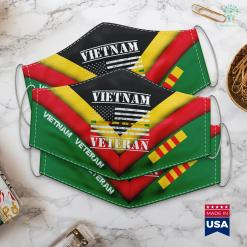 Donation Pick Up Vietnam Veteran Thin Line American Flag Pride Face Mask Gift %tag familyloves.com