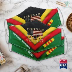 Free Vietnam Vietnam Veteran Distressed American Flag Face Mask Gift %tag familyloves.com