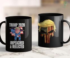 Funny Donald Trump Shirts Trump 2020 Impeached And Reelected - Donald Trump Election 11oz Coffee Mug %tag familyloves.com
