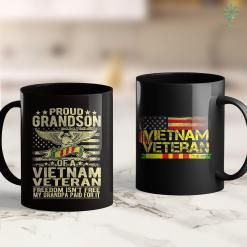 Furniture Pick Up Proud Grandson Of Vietnam Veteran - Freedom Isnt Free Gift 11Oz 15Oz Black Coffee Mug %tag familyloves.com