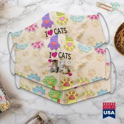Man Cat Lover I Love Cats Cat Lover Tee I Love Kittens Face Mask Gift %tag familyloves.com