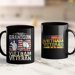 Map Viet Nam Proud Grandson Of A Vietnam Veteran Day Usa American Flag 11Oz 15Oz Black Coffee Mug %tag familyloves.com