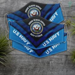 Mens Us Navy Navy Veteran Proud To Have Served In The Us Navy Face Mask Gift %tag familyloves.com